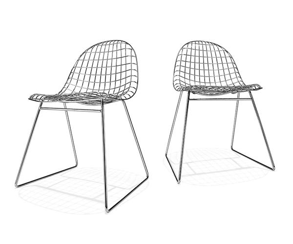 chaises métalique