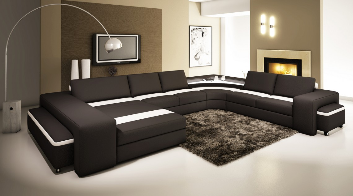 Un canapé en cuir pour une décoration moderne