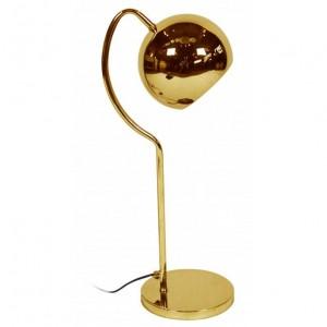 lampe de table dorée
