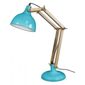 lampe de bureau design bleue