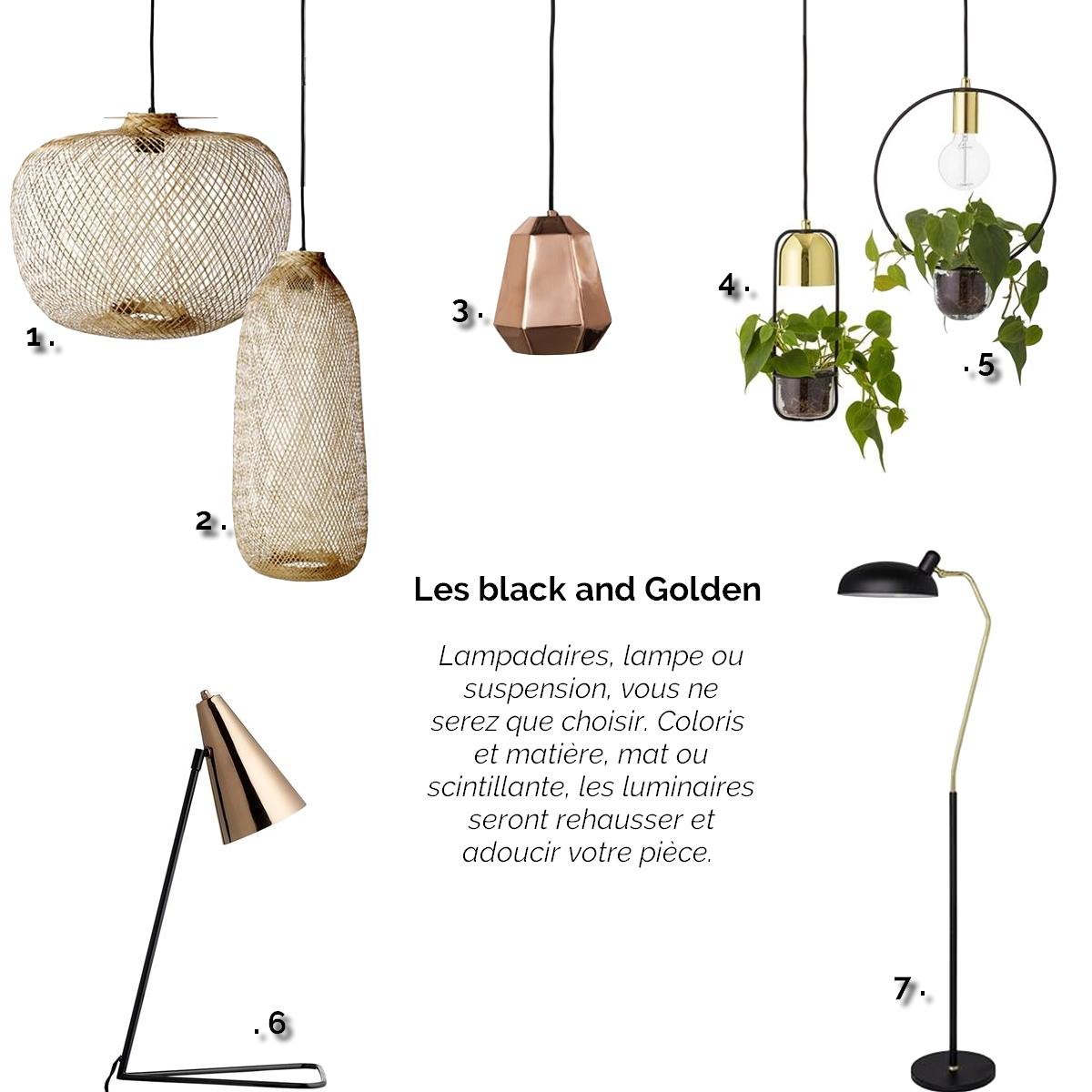 lampe, suspension, lampadaire, rotin, cuivre, dorée, plantes, métal, bloomingville, design