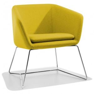 fauteuil jaune, fauteuil vintage, fauteuil piétement traineau, fauteuil design, coup de coeur design, stylight, stranger things