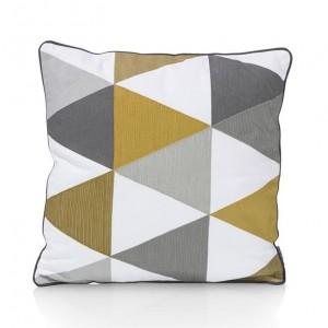 coussin géométriques, coussin motifs, coussin jaune et gris, coussin vintage, coussin année 80', coup de coeur designn stylight, stranger things