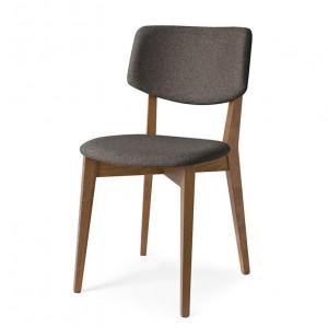chaise vintage, chaise en bois, chaise en tissu, chaise couleur taupe, chaise design, coup de coeur design, stylight, stranger things