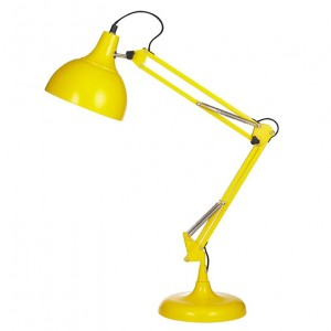lampe de bureau, lampe de bureau jaune, lampe articulée, lampe vintage, coup de coeur design, stylight, stranger things