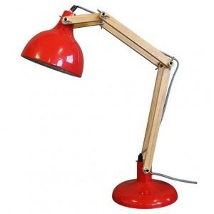 lampe design, lampe architecte, lampe rouge, lampe articulée, lampe vintage, lampe année 80', coup de coeur design, stranger things, stylight