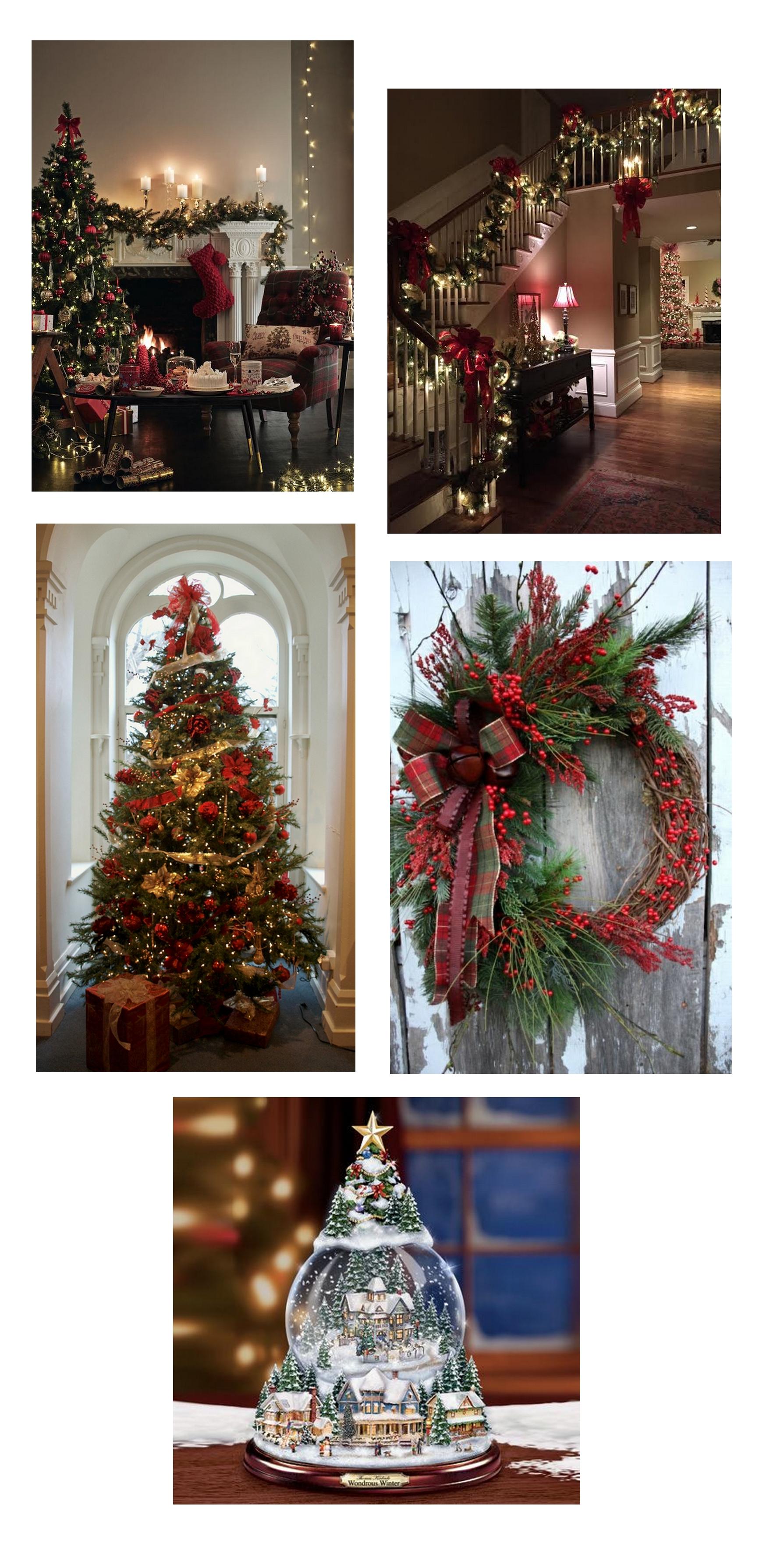 Noel traditionnel, sapin, décoration, rouge, vert, lumière, déco de noël