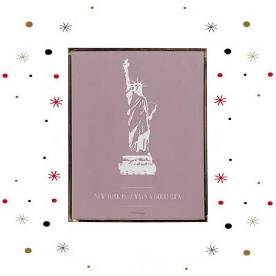 statut de la liberté, cadre rose, cadre design, coup de coeur design