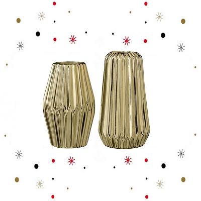vase design, vase erode, vase céramique, coup de coeur design, mobilier design, mobilier, scandinave, lot, doré
