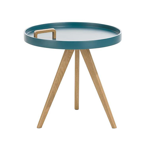 Table d'appoint scandinave laqué bleu - Matty