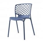 Chaise de cuisine en nylon en bleu - Alpha