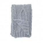 Plaid tricot bleu pastel Bloomingville - Marius